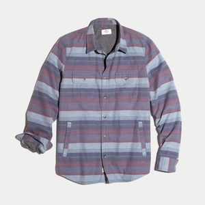 Marine Layer Camping Shirt in Blue Stripe